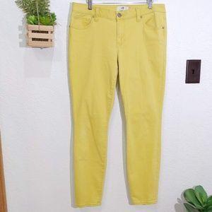 CAbi #5084 Yellow Skinny Stretch Jean size 12